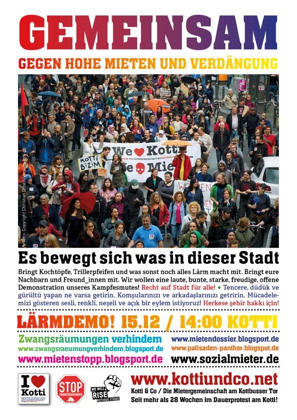 Lärmdeno, 15.12.2012, 14:00 Kottbusser Tor