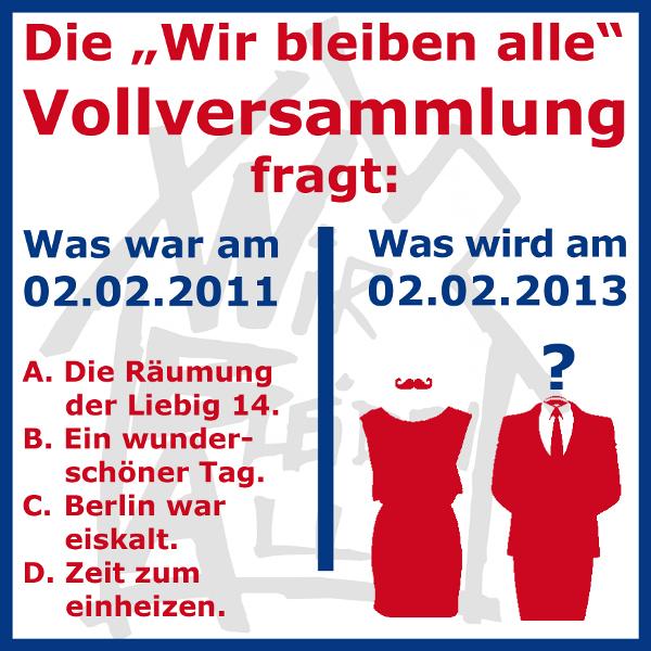 Zur Räumung der Liebig 14, am 02.02.2011