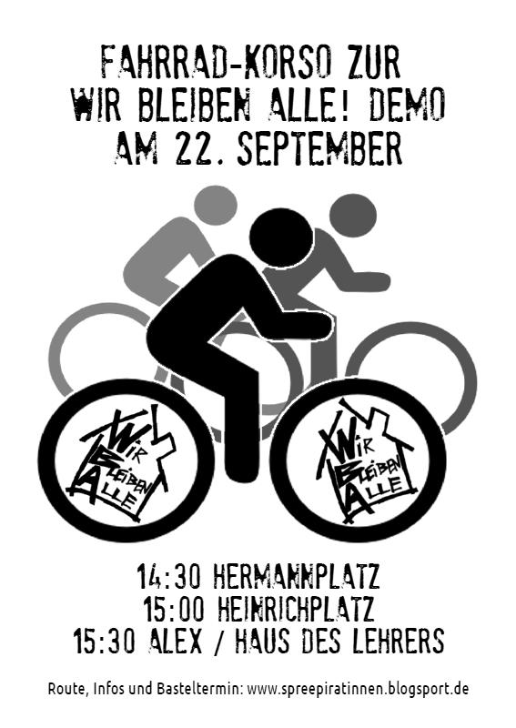 Flyer Krachdemo 22.09.2012 Fahrradkorso