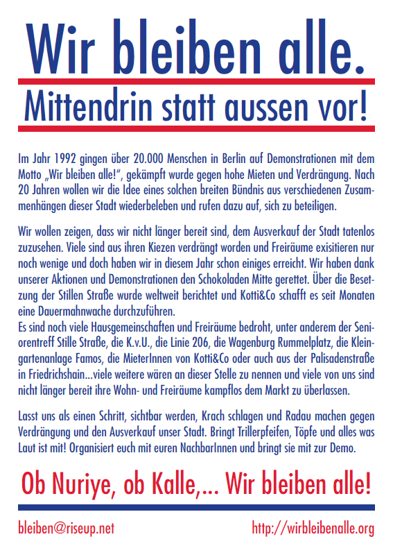Flyer Krachdemo 22.09.2012 Rückseite